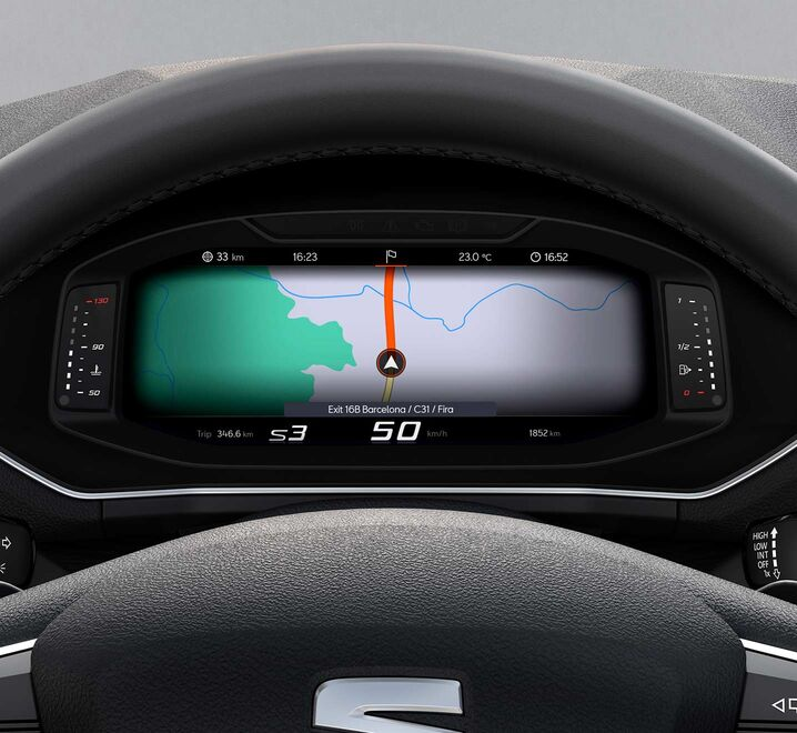 SEAT Tarraco Digital Cockpit mit GPS Navigation